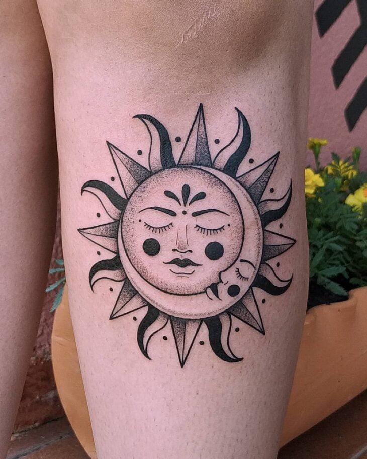 tatuagem de sol e lua 12