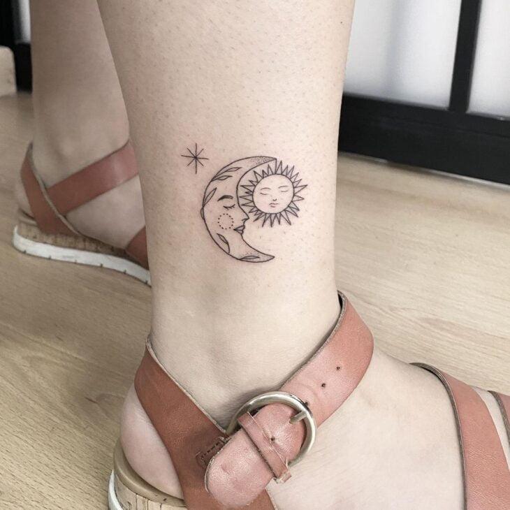 tatuagem de sol e lua 17