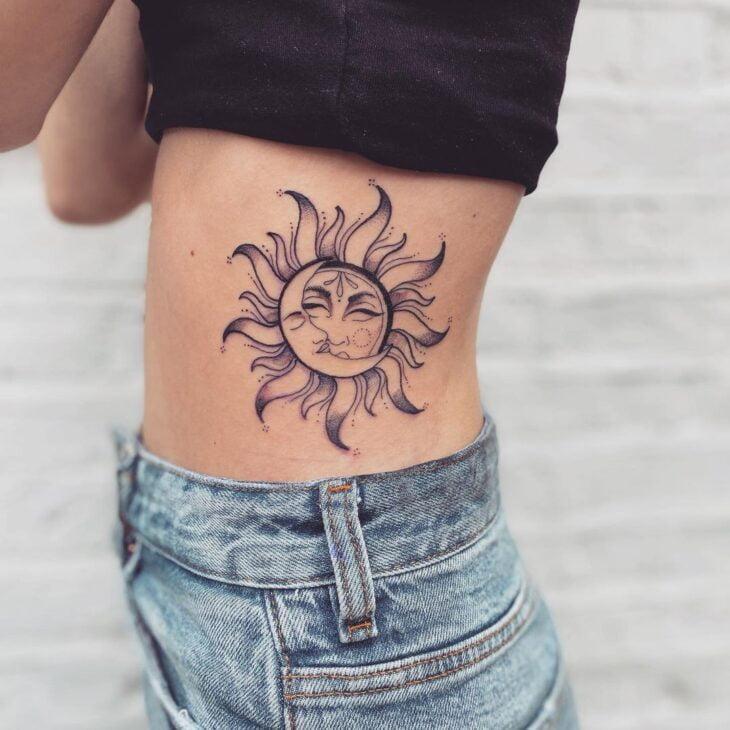 tatuagem de sol e lua 22
