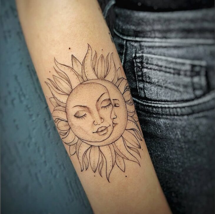 tatuagem de sol e lua 3