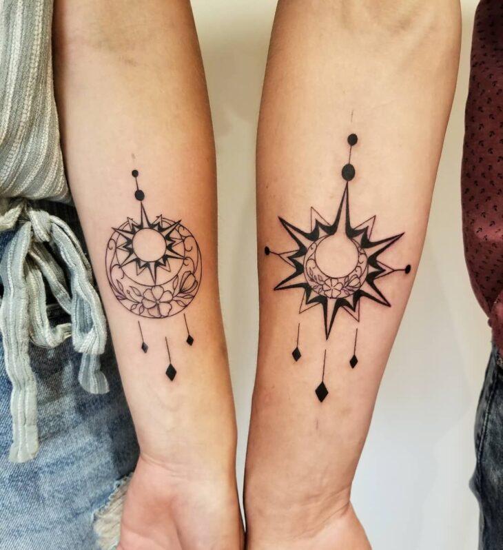tatuagem de sol e lua 30