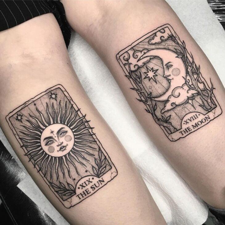 tatuagem de sol e lua 31