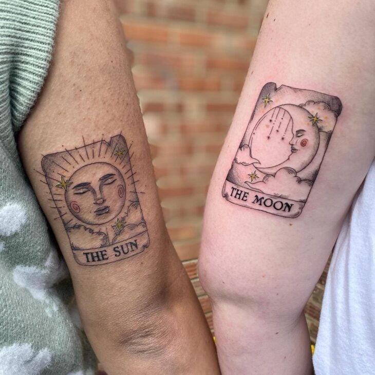 tatuagem de sol e lua 32
