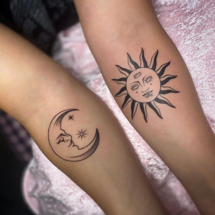tatuagem de sol e lua 33