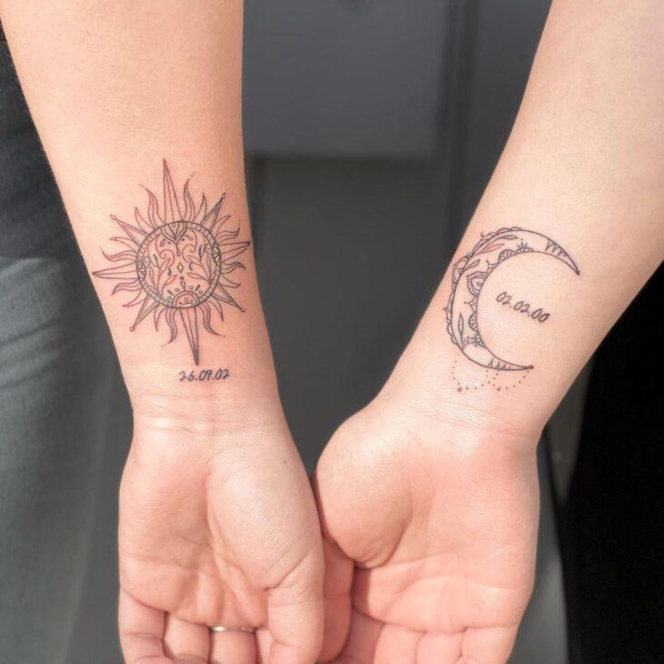 tatuagem de sol e lua 34