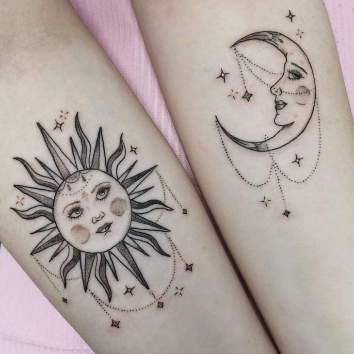tatuagem de sol e lua 38