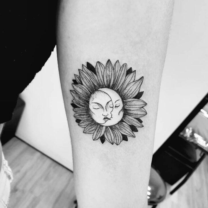 tatuagem de sol e lua 47