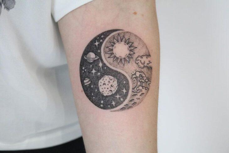 tatuagem de sol e lua 5