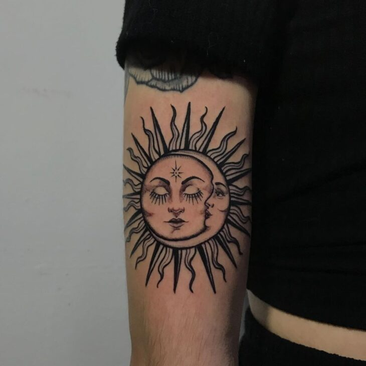 tatuagem de sol e lua 6