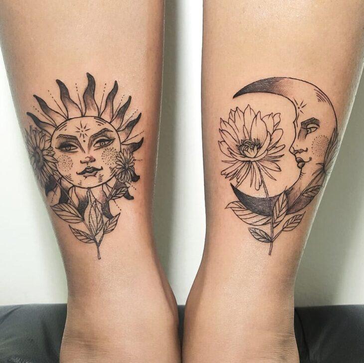 tatuagem de sol e lua 8