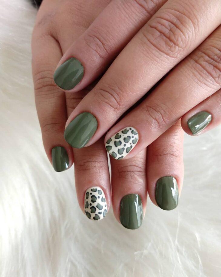 unhas decoradas verde 14