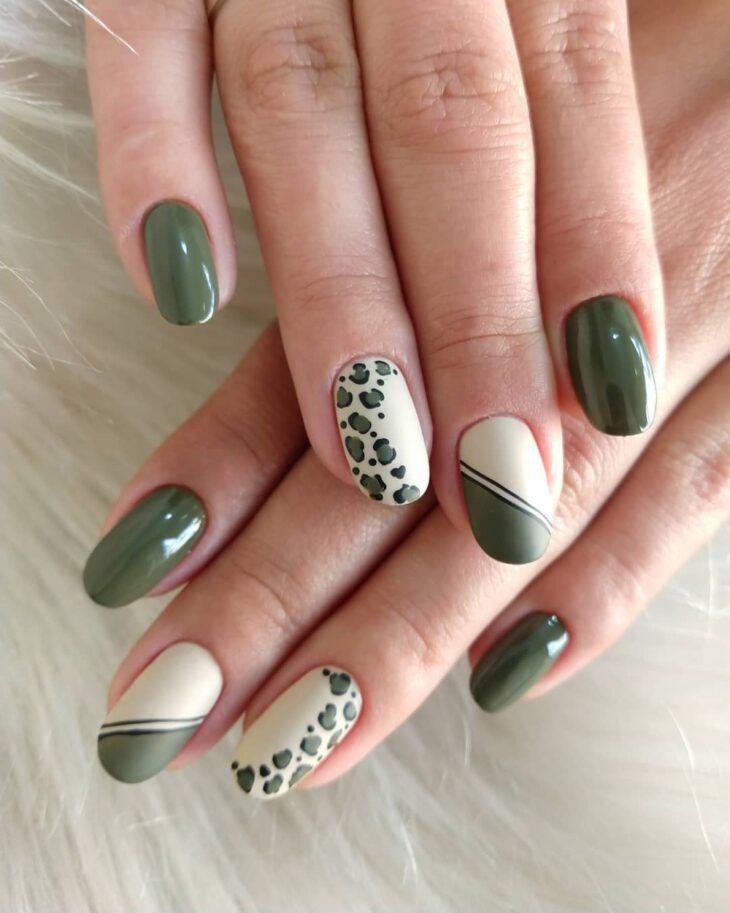 unhas decoradas verde 15