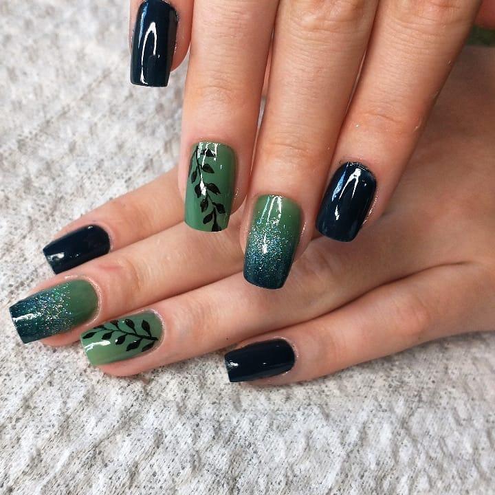 unhas decoradas verde 5