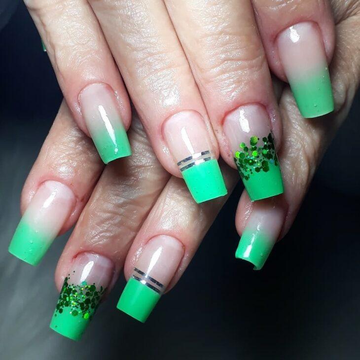 unhas decoradas verde 58