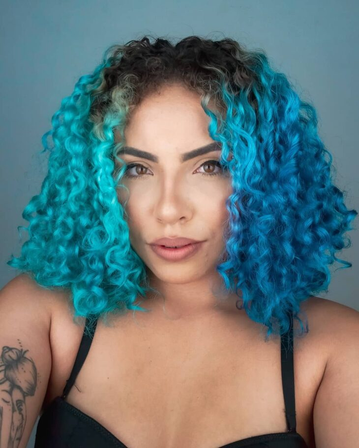 cabelo azul turquesa 41