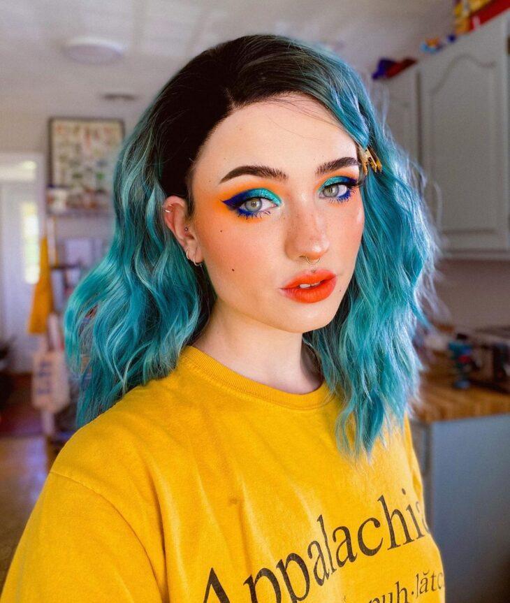 cabelo azul turquesa 43