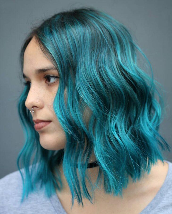 cabelo azul turquesa 13