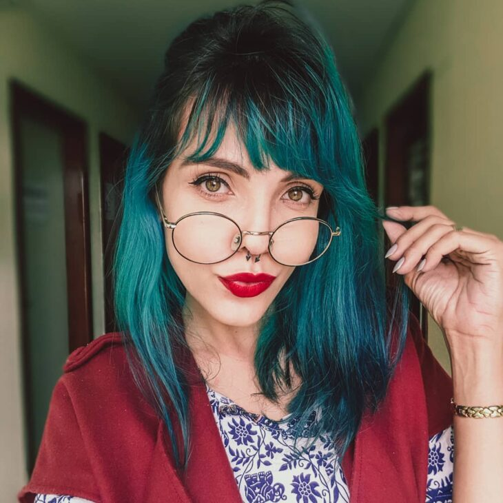 cabelo azul turquesa 14