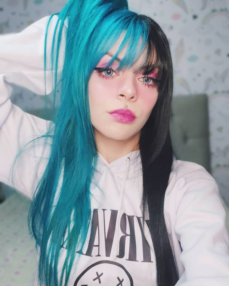 cabelo azul turquesa 18