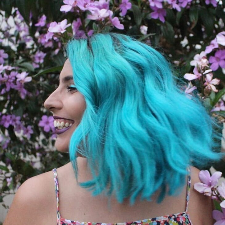 cabelo azul turquesa 28
