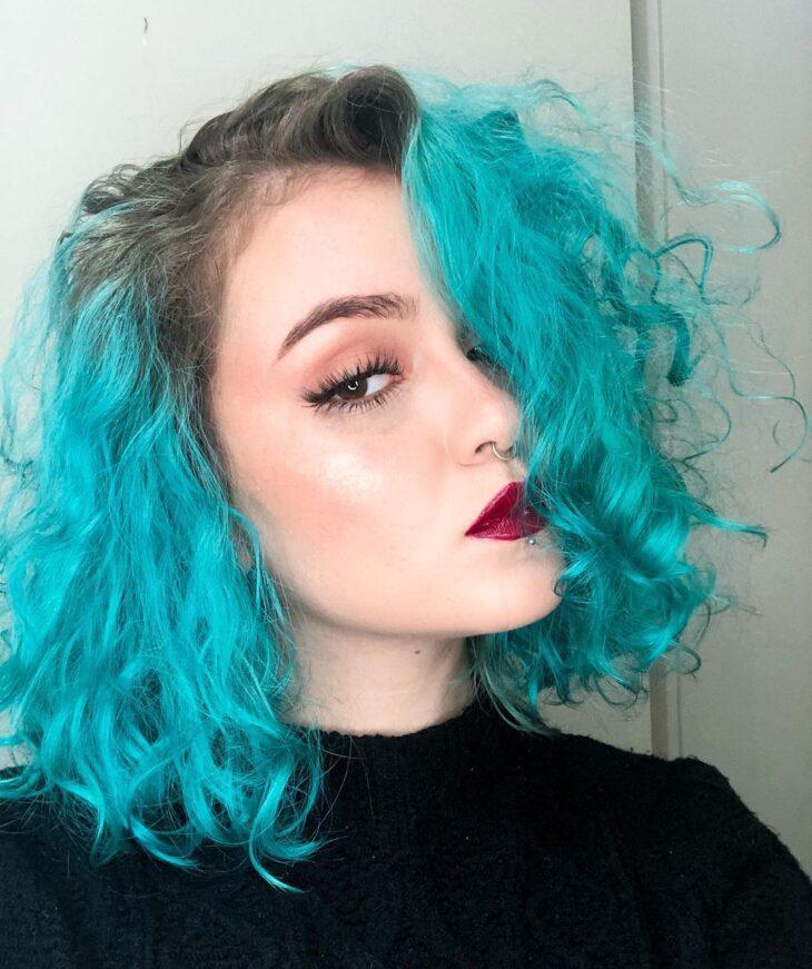 cabelo azul turquesa 30