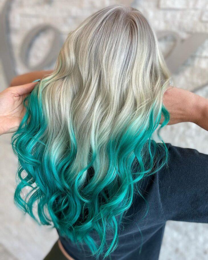 cabelo azul turquesa 37