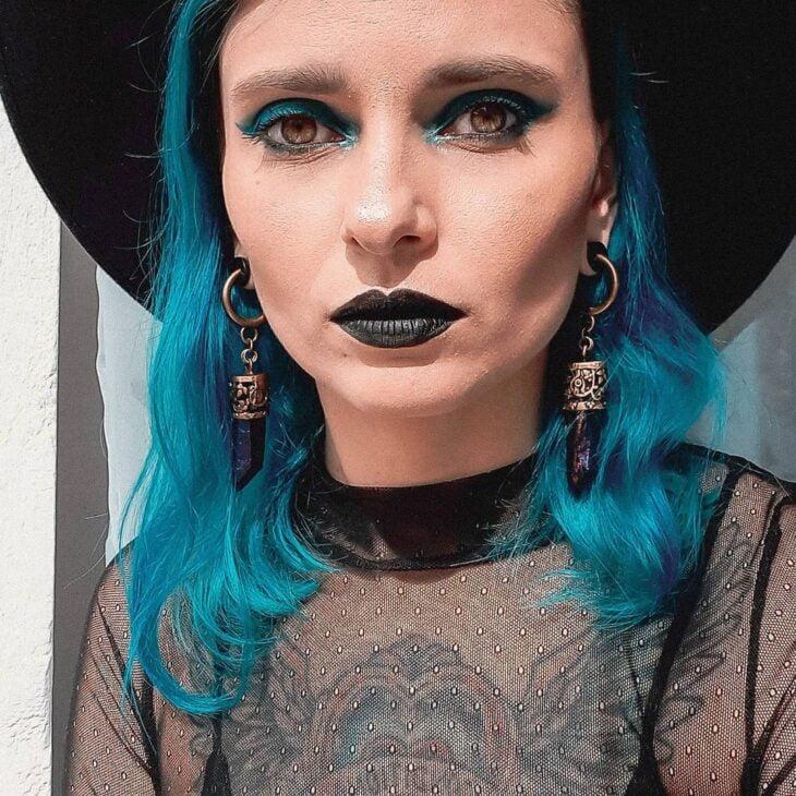 cabelo azul turquesa 39