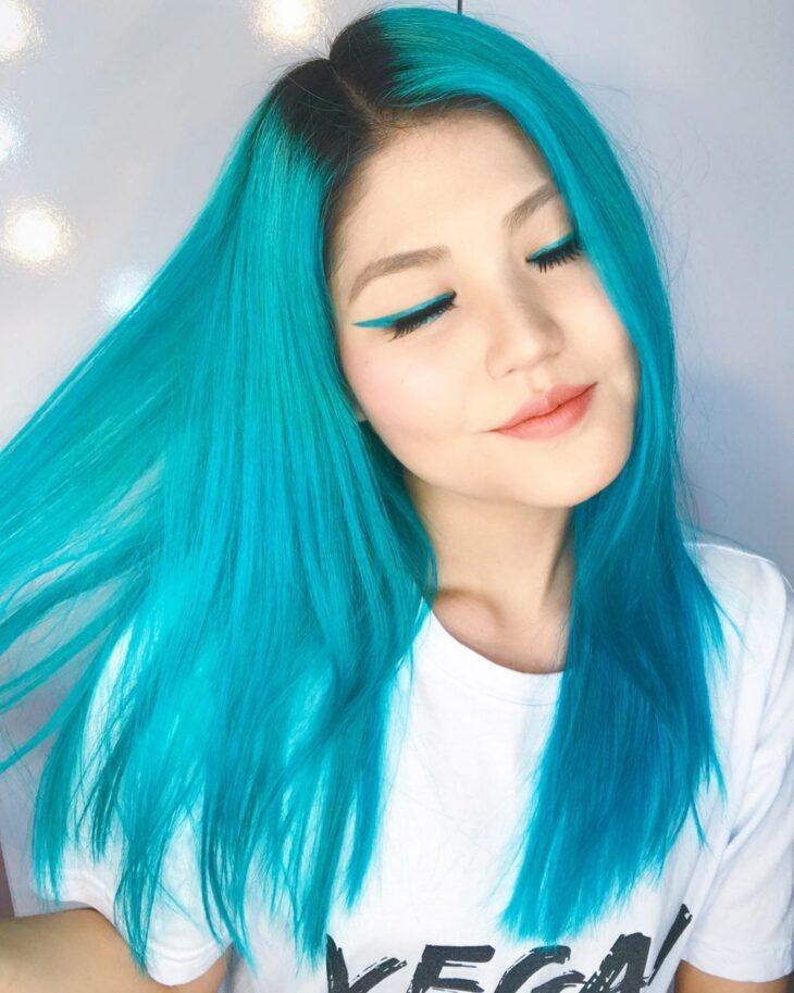cabelo azul turquesa 11