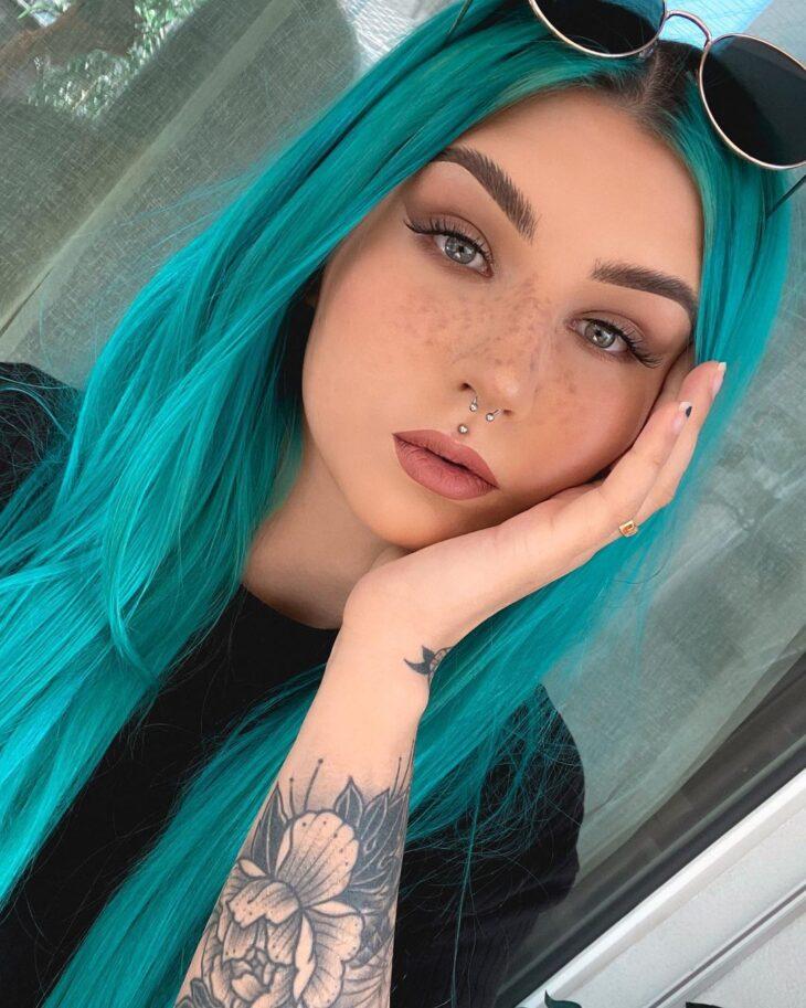 cabelo azul turquesa 12