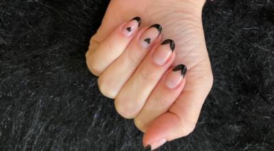 50 fotos de unhas com francesinha preta para mãos estilosas