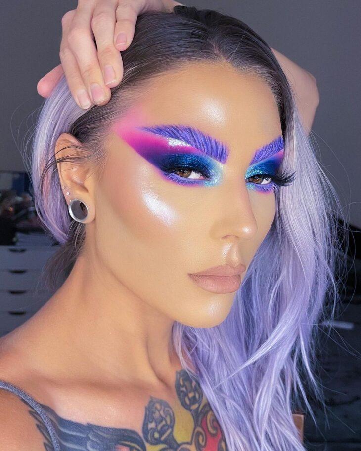 maquiagem neon 9