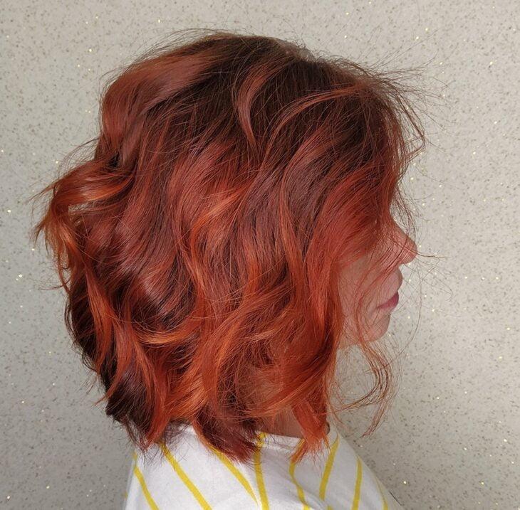 ombré hair vermelho 14