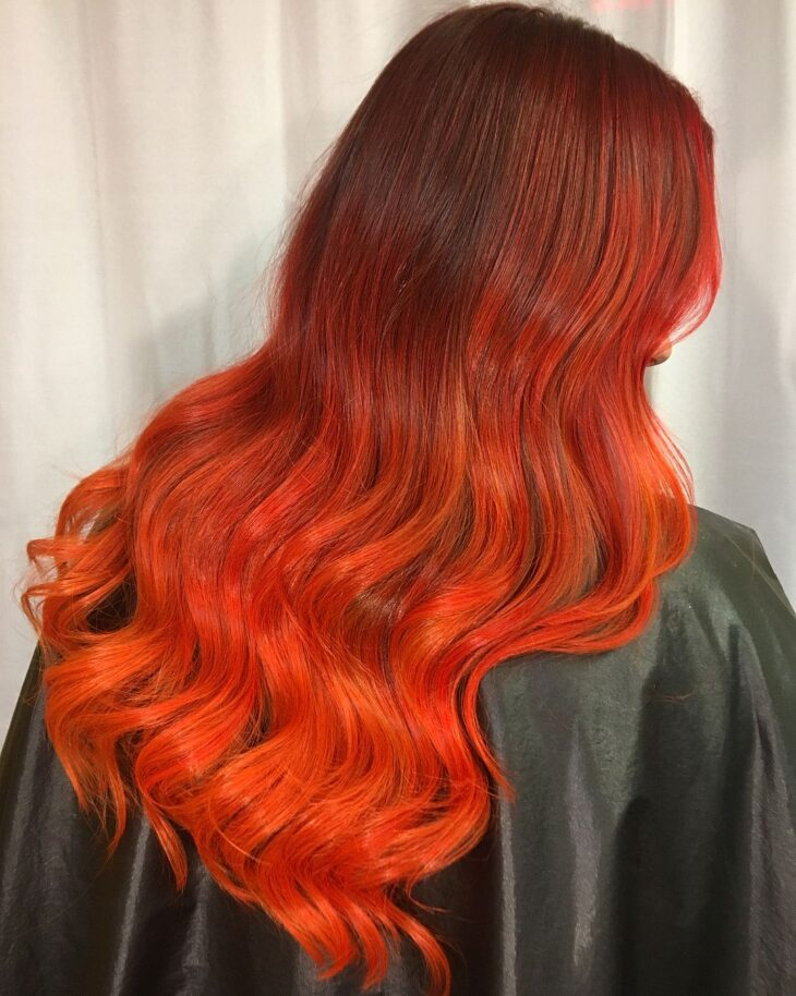 ombré hair vermelho 15