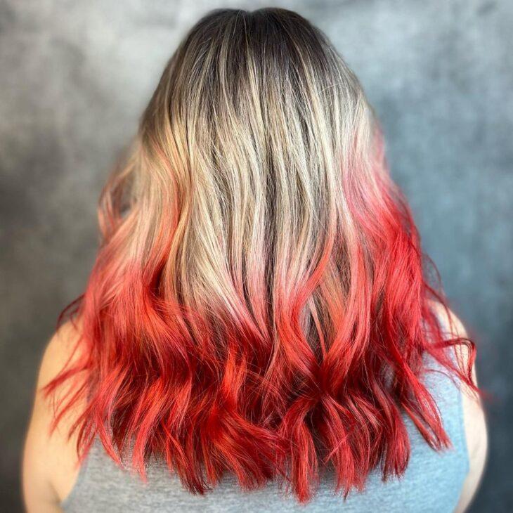 ombré hair vermelho 16