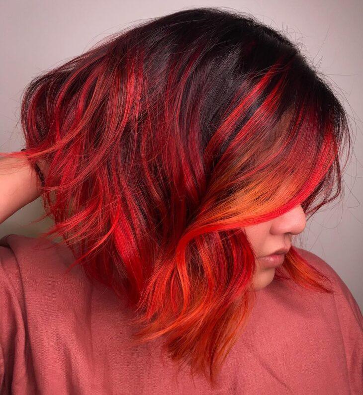 ombré hair vermelho 18