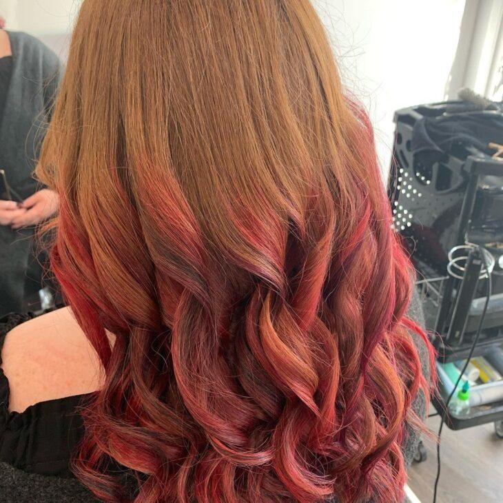 ombré hair vermelho 20