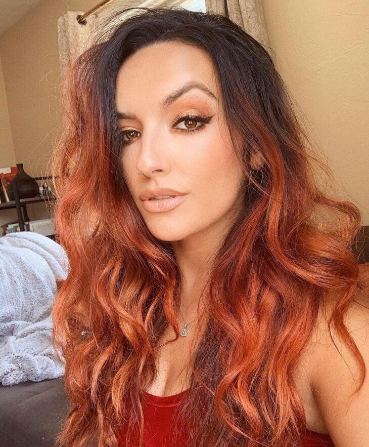 ombré hair vermelho 21