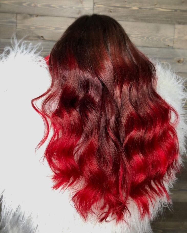 ombré hair vermelho 22