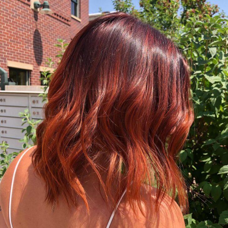 ombré hair vermelho 23