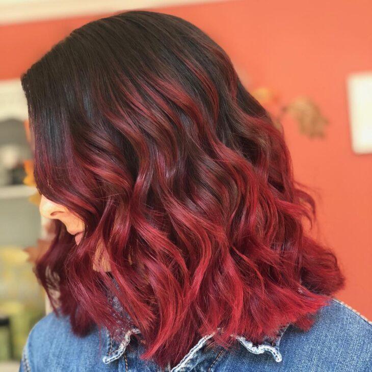 ombré hair vermelho 24