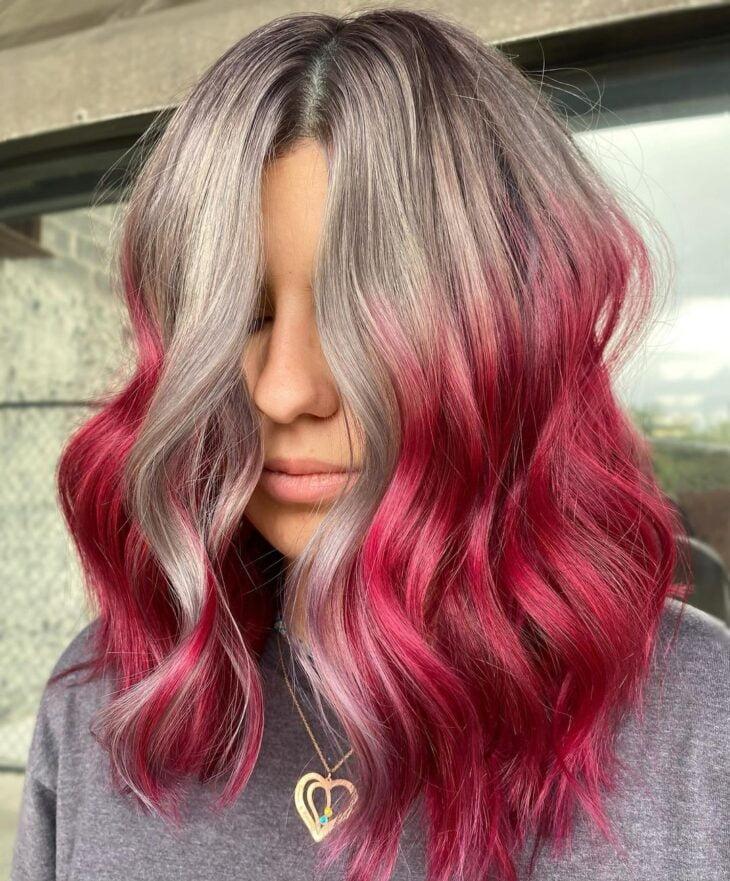 ombré hair vermelho 25
