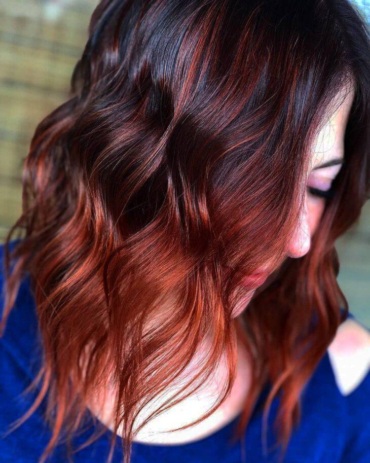 ombré hair vermelho 28