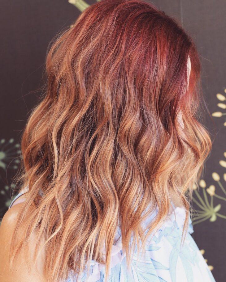 ombré hair vermelho 30