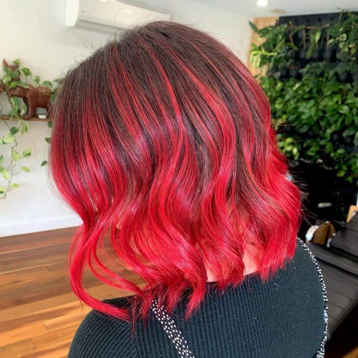 ombré hair vermelho 6