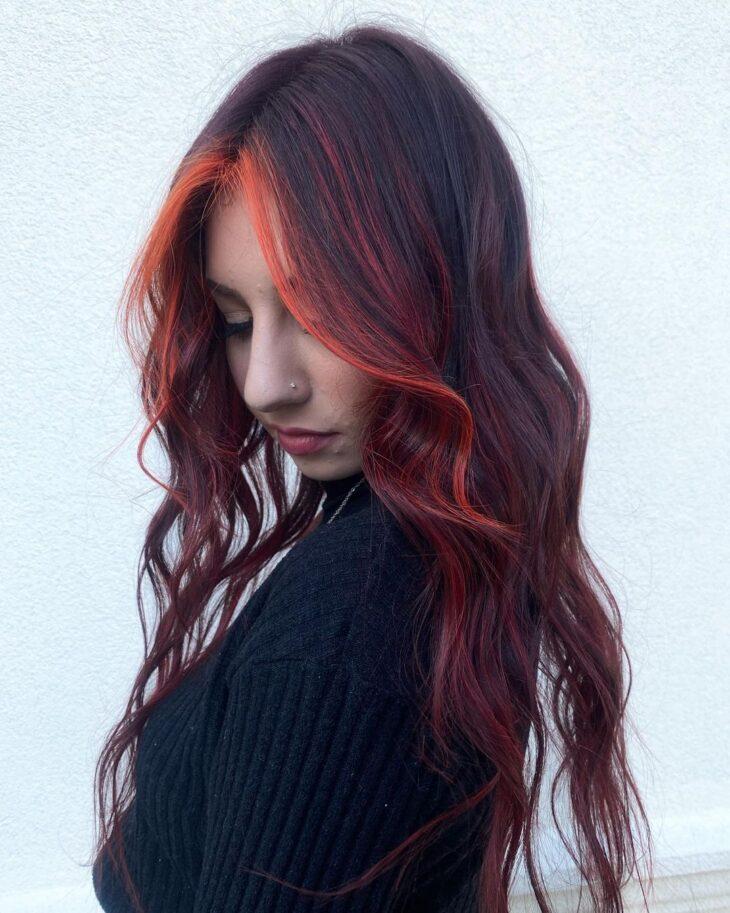 ombré hair vermelho 34