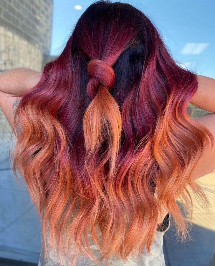 ombré hair vermelho 35