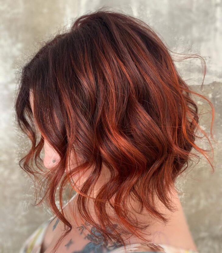 ombré hair vermelho 36