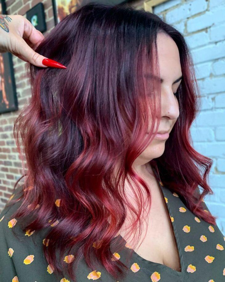 ombré hair vermelho 37