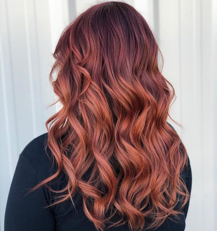ombré hair vermelho 39