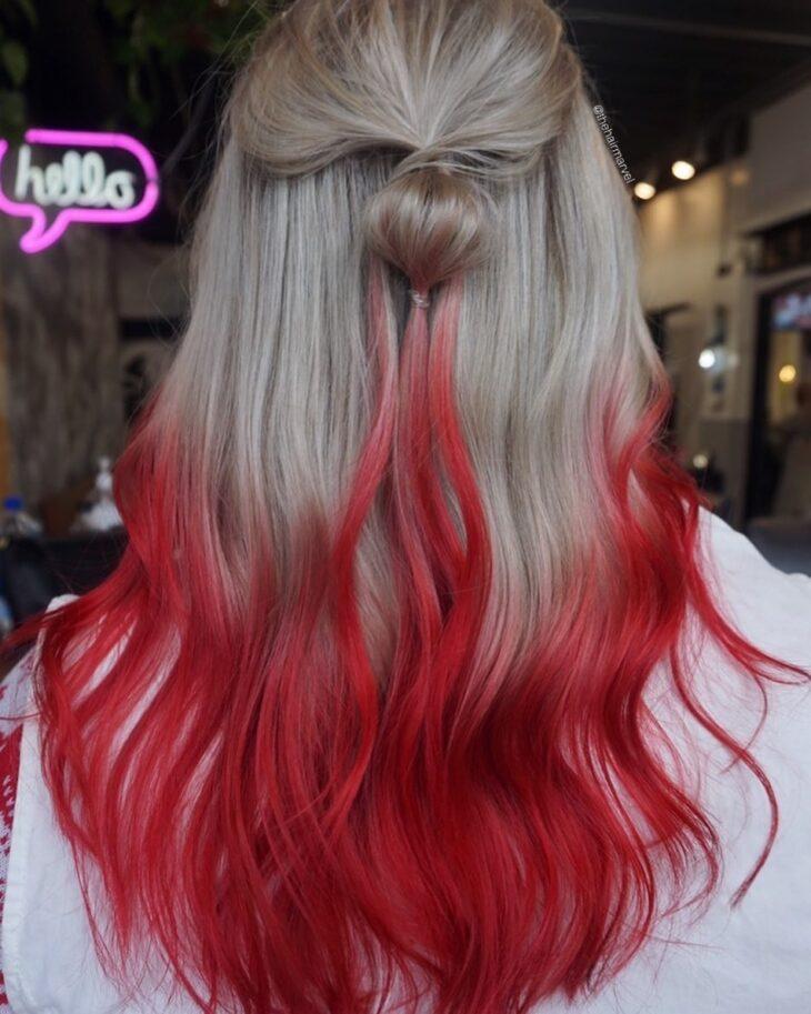 ombré hair vermelho 40